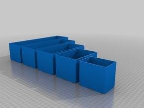 Raaco CarryLite 80 storage boxes - segegations