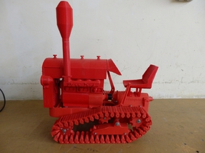 Tractor de cadenas en su conjunto