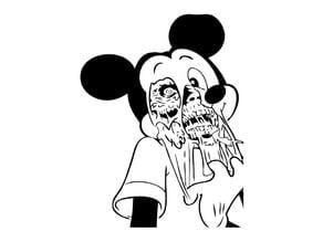 Zombie Mickey stencil