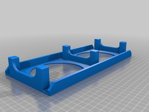 Easy to print Creality CR-10 Controll box base for 120mm fans