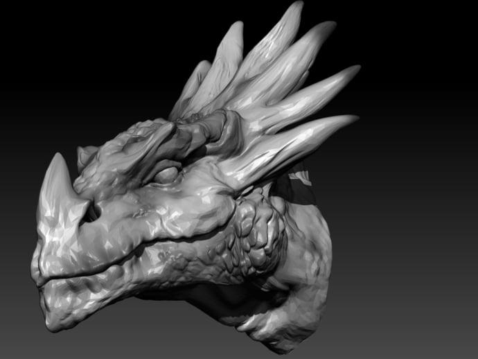 dragon head by robwzor thingiverse
