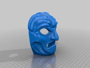 "Mask based on ""300"" movie prop"