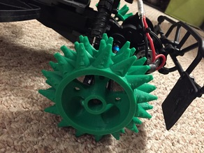 1/10 RC Spiked Snow/Sand Rims & Tires