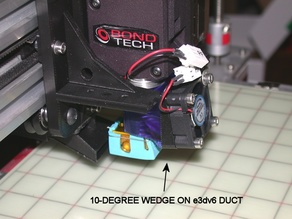 30mm Fan Angle Wedge Mount for e3dv6 Duct