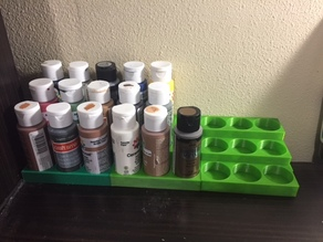 Connectable 9 Bottle Paint Holder - 2 oz