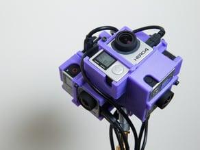 GoPro Hero 3/4 360 Spherical Rig V2