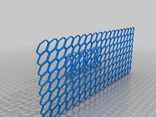 Planar and cilindrical mesh 3d pattern
