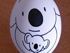 Eggbot - Koala with joey