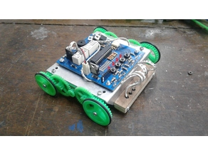 Gears and wheels for 130 dc motor
