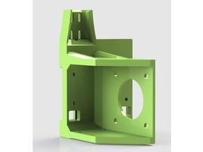 Titan Aero Hypercube Evolution Mount with Cable holder relief