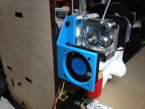 """Fan extension for """"Printrbot Simple, 300mm Y Axis-No Sag!"""""""