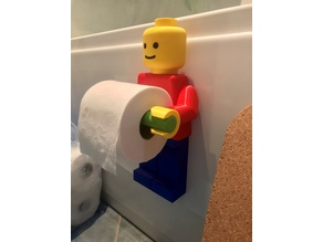 Lego Man Toilet Paper Holder (Longer Roll Holder)