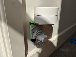 Google Wifi UK socket shelf