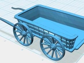 Hay Wagon, 28mm Wargaming (Assembled)