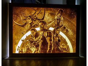 Thor: Ragnarok lithophane