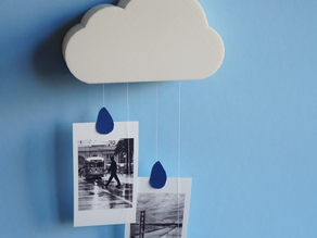 Cloud Memory - wall storage and photo hanger