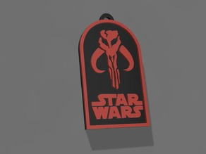 Star Wars Boba Fett (Mandalorian) Badge/Keychain/Necklace
