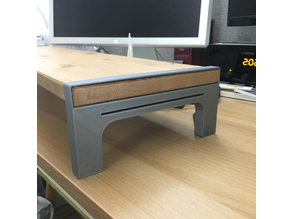 Monitor stand (Using IKEA shelf)