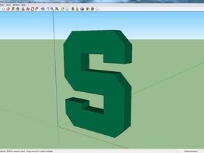 3D Block S Michigan State Logo