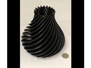 Spiral Vase Desk Pen Holder, flower holder container pot