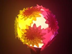 Icosahedron Puzzle Lamp Shade (I) Dahlia