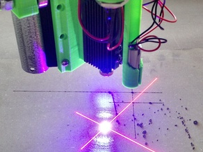 Mostly Printed CNC Updated Laser Mount with Fan and Line Lasers