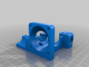 Bowden X-Carriage body 40mm fan & 12mm sensor