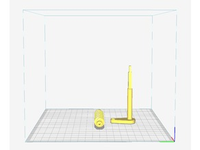 An alternative, non threaded crank and worm for the $3.47 3D Scanner