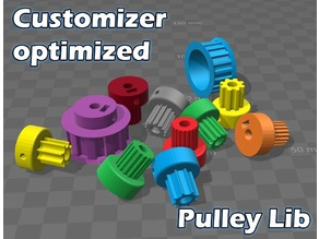 Parametric Pulley Library - Customizer Optimized