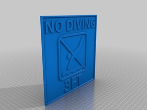 No Diving 3ft 8x8