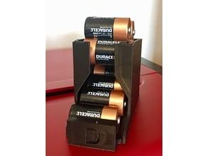 Compact Desktop D Battery Holder
