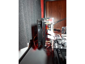 Motherboard mounting frame to for 120mm fan (FLsun i3)