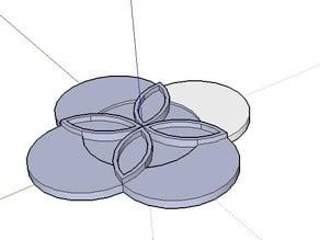 Geometric 4 Petal Flower