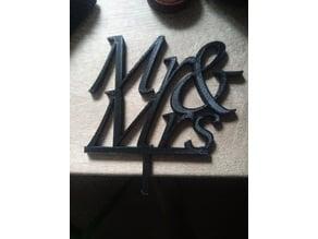 Mr&Mrs topper