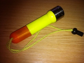 Replacement LED lenser torch half-body