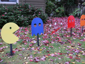 Pacman Yard Art (Stakes Included) CNC or Large Format 3DP