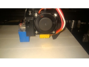 Tronxy X3A fan shroud with sensor mount