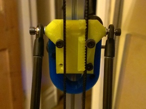 Kossel Mini custom carriage for closed loop belt