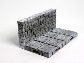 OpenForge Cut-Stone OpenLOCK Long Walls