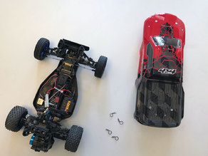 Body mounts for Tamiya DT-02 RC car chassis