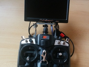 FPV monitor mount for FS-TH9X
