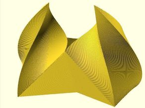 Scale/Rotate-While-Extruding OpenSCAD Doodle