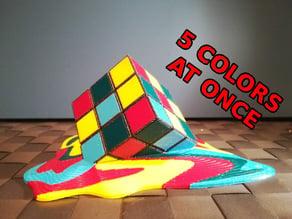 Melting Rubik's Cube (multi material)