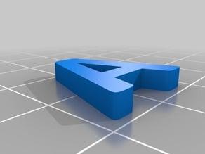 Alphabet (calibri bold) 18*3mm