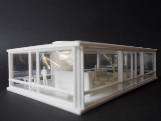 Philip johnson glass house model