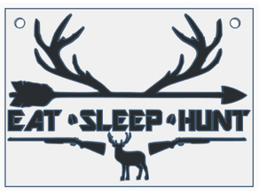 Eat Sleep Hunt (plate)