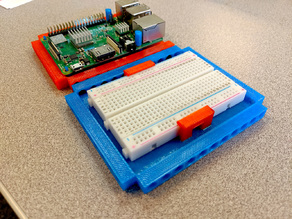 Half-Sized Breadboard Holder (LEGO Technic Compatible)