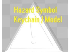 Hazard Symbol / Keychain