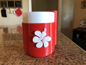 Hibiscus Flower Emblem for Self-Watering Planter by parallelgoods