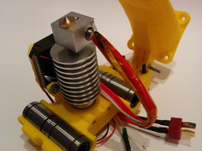 Sturdy Bowden X-carriage adaptation for 3dp02 and E3D V6 kind hotend